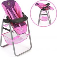 Bayer Chic Jídelní židlička pro panenku - Dots purple pink 3