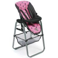 Bayer Chic Jídelní židlička pro panenku - Hvězdičky šedivé