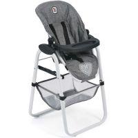Bayer Chic Jídelní židlička pro panenku - Jeans šedivá