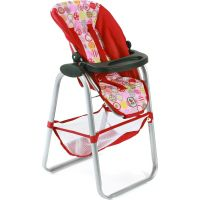 Bayer Chic Vysoká jídelní židle pro panenky - Ruby Red