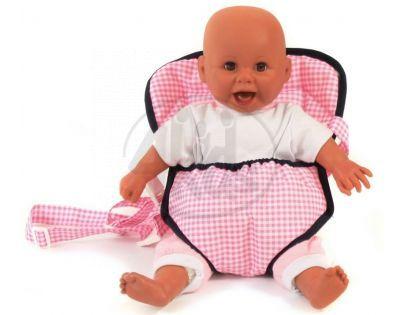 Bayer Chic Klokanka pro panenky Pink Checker