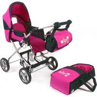 Bayer Chic Kočárek pro panenky Bambina - Dots Navy Pink 2