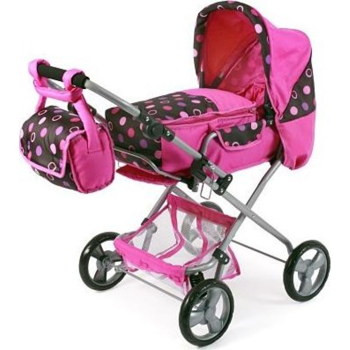 Bayer Chic Kočárek pro panenky Bambina - Pinky Balls