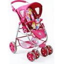 Bayer Chic Kočárek pro panenky Bellina 2v1 - Pinky Bubbles 2