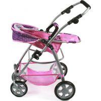 Bayer Chic Kočárek pro panenky Emotion 2v1 - Dots purple pink 5