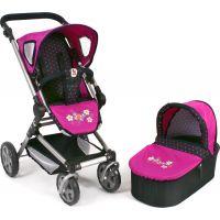 Bayer Chic Kočárek pro panenky Fides 2v1 Dots Navy Pink