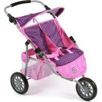 Bayer Chic Kočárek pro panenky Jogger - Dots purple pink