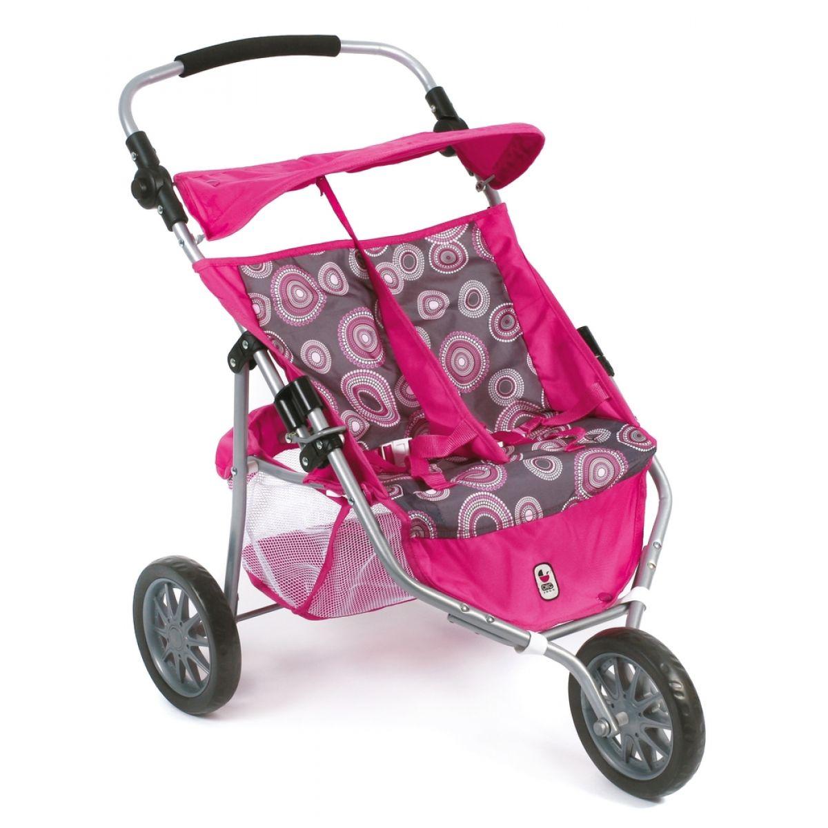 Bayer Chic Kočárek pro panenky Jogger Hot pink pearls