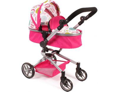 Bayer Chic Kočárek pro panenky Kombi Yolo - Růžová s kolečky