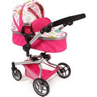 Bayer Chic Kočárek pro panenky Kombi Yolo - Růžová s kolečky 3
