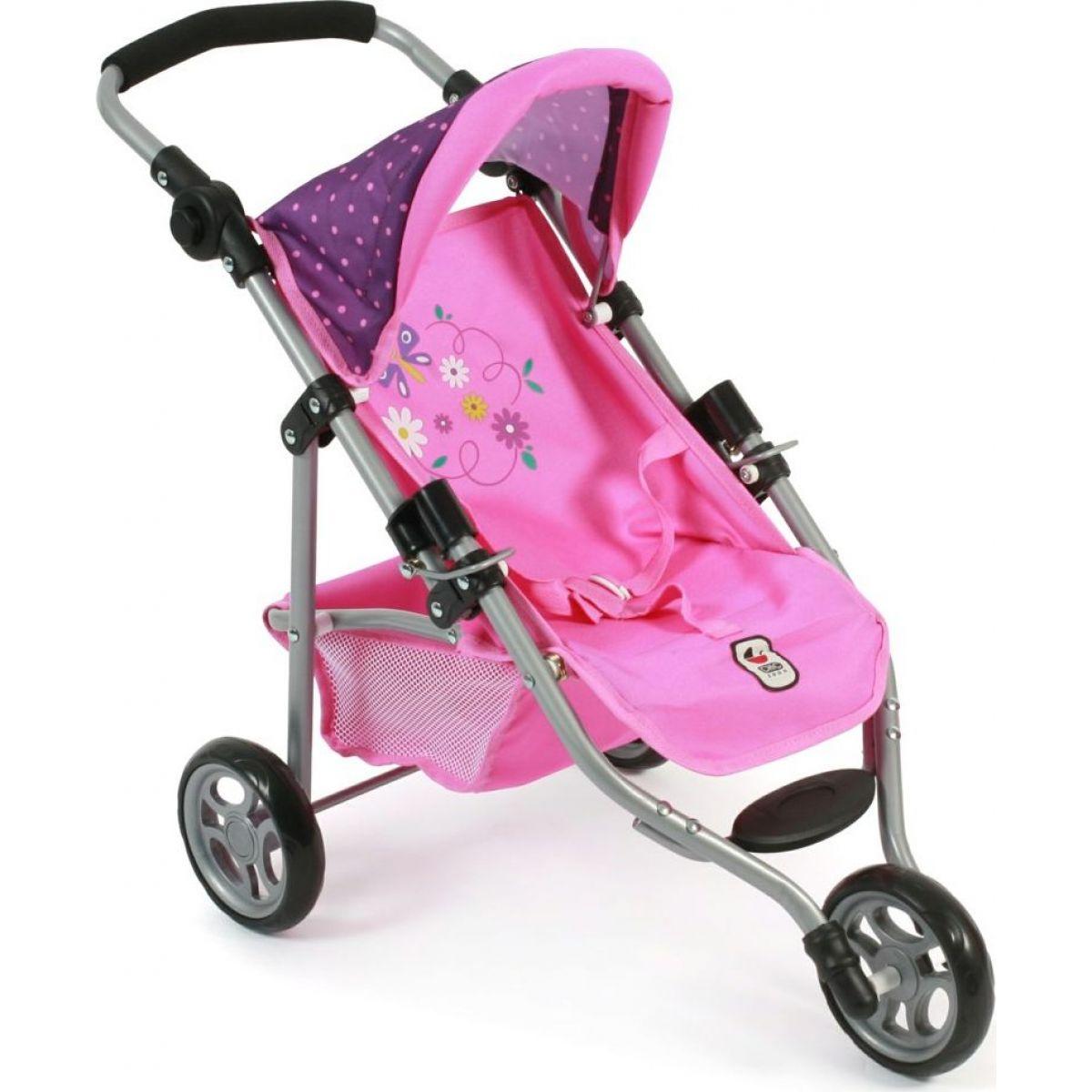 Bayer Chic Kočárek pro panenky Lola - Dots purple pink