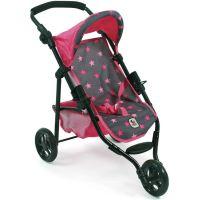 Bayer Chic Kočárek pro panenky Lola Hvězdičky růžové