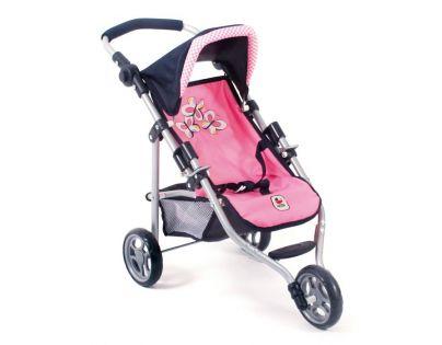 Bayer Chic Kočárek pro panenky Lola - Pink Checker