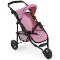 Bayer Chic Kočárek pro panenky Lola - Pink Jeans- Poškozený obal