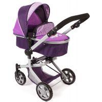 Bayer Chic Kočárek pro panenky Mika - Purple - Poškozený obal