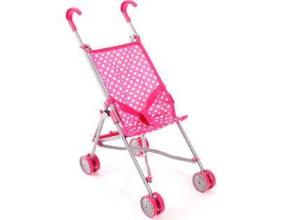 Bayer Chic Kočárek pro panenky Mini Buggy - Růžová s puntíky