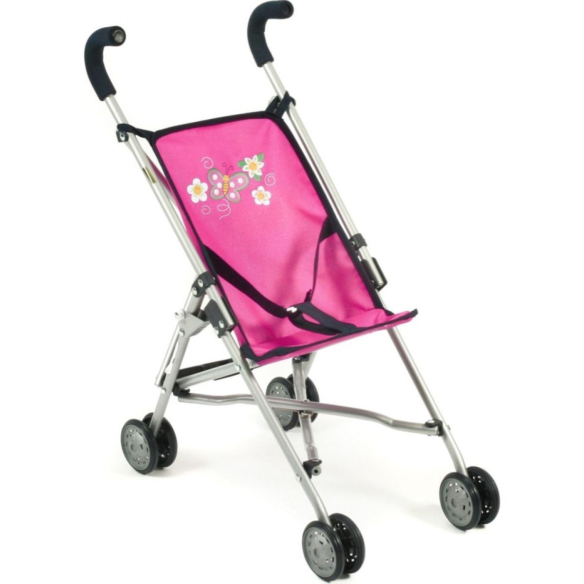 Bayer Chic Kočárek pro panenky Mini Buggy Roma - Dots Navy Pink