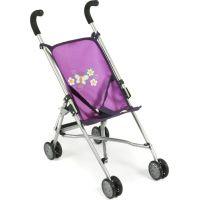 Bayer Chic Kočárek pro panenky Mini Buggy Roma - Purple Checker