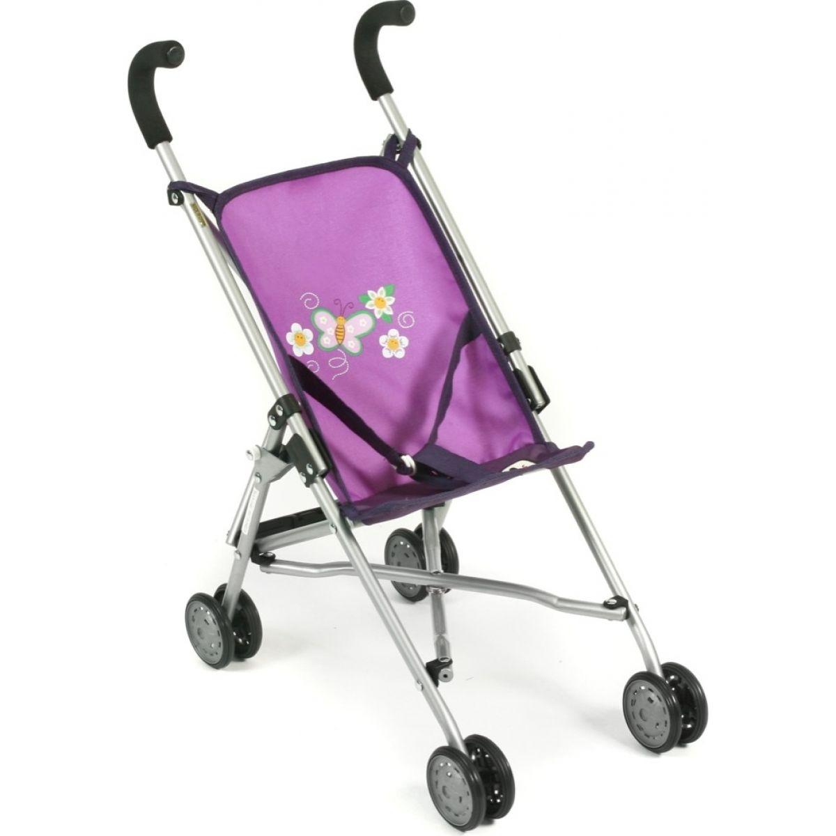 Bayer Chic Kočárek pro panenky Mini Buggy Roma Purple Checker