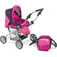 Bayer Chic Kočárek pro panenky Piccolina - Dots Navy Pink 2