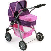Bayer Chic Kočárek pro panenky Speedy - Dots purple pink - Poškozený obal