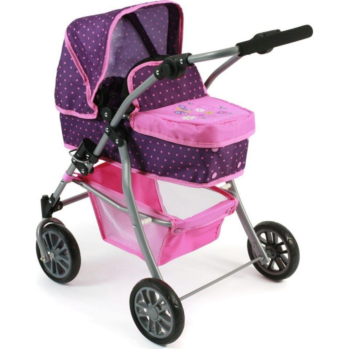 Bayer Chic Kočárek pro panenky Speedy Dots purple pink