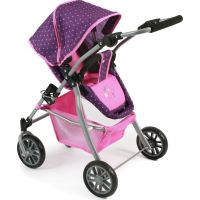 Bayer Chic Kočárek pro panenky Speedy Dots purple pink 2
