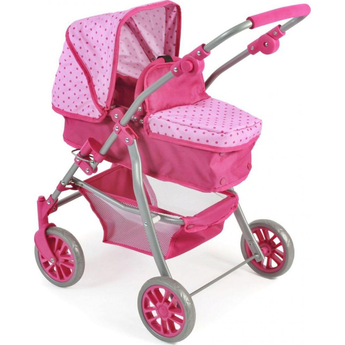Bayer Chic Kočárek pro panenky Speedy Pink Dots