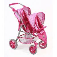 Bayer Chic Kočárek pro panenky Twinny Pink Dots