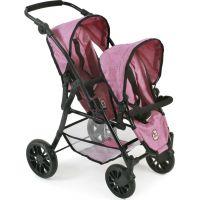 Bayer Chic Kočárek pro panenky Twinny Pink Jeans