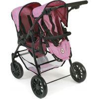 Bayer Chic Kočárek pro panenky Twinny Pink Jeans 2