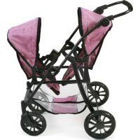 Bayer Chic Kočárek pro panenky Twinny Pink Jeans 3