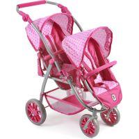 Bayer Chic Kočárek pro panenky Vario - Pink Dots