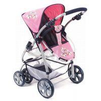 BAYER CHIC 2000 - 63146 - Kočárek pro panenky BELLINA 2v1 - Pink Checker 2