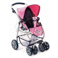 BAYER CHIC 2000 - 63146 - Kočárek pro panenky BELLINA 2v1 - Pink Checker 3