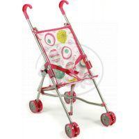 Bayer Chic Kočárek pro panenky Mini Buggy - Růžová s kolečky