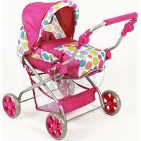 Bayer Chic Kočárek pro panenky Piccolina - Pinky Bubbles