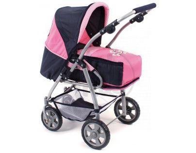 Bayer Chic Kočárek pro panenky Royal 3v1 - Pink Checker