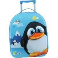 Bayer Chic Látkový kufřík s kolečky tučňák