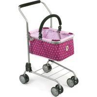 Bayer Chic Nákupní vozík s košíkem Dots Brombeere