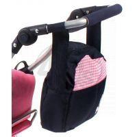 BAYER CHIC 2000 - 85346 - Přebalovací taška ke kočárku pro panenky - Pink Checker