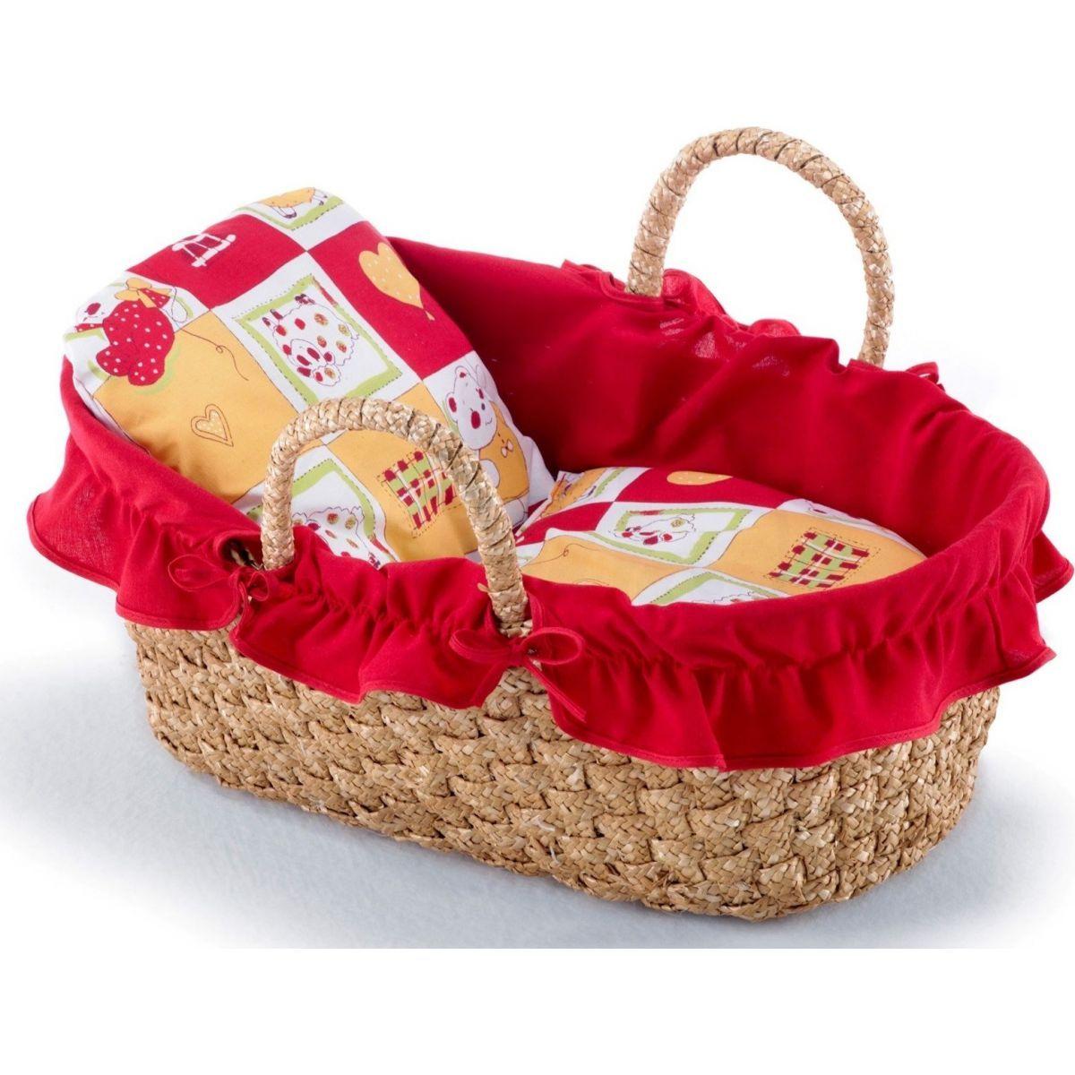 Bayer Chic Proutěný košík červený s ovečkou