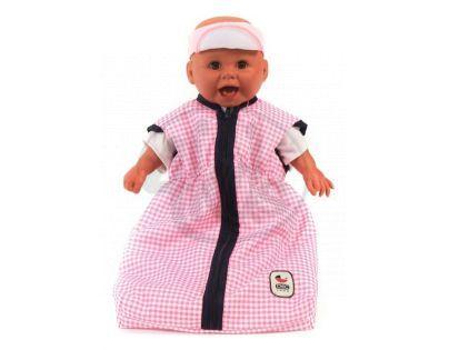 BAYER CHIC 2000 - 79246 - Spací pytel pro panenky - Pink Checker