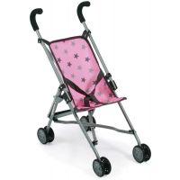 Bayer Kočárek pro panenky Mini Buggy Roma hvězdičky šedivé