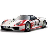 Bburago 1:24 Race Porsche 918 Weissach bílá 18-28009