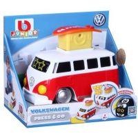 Bburago junior VW transporter zmáčkni a jeď červený 2