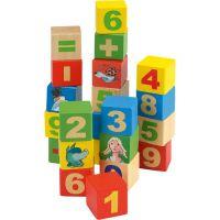 Beluga Dřevěné kostky číslice 44 ks