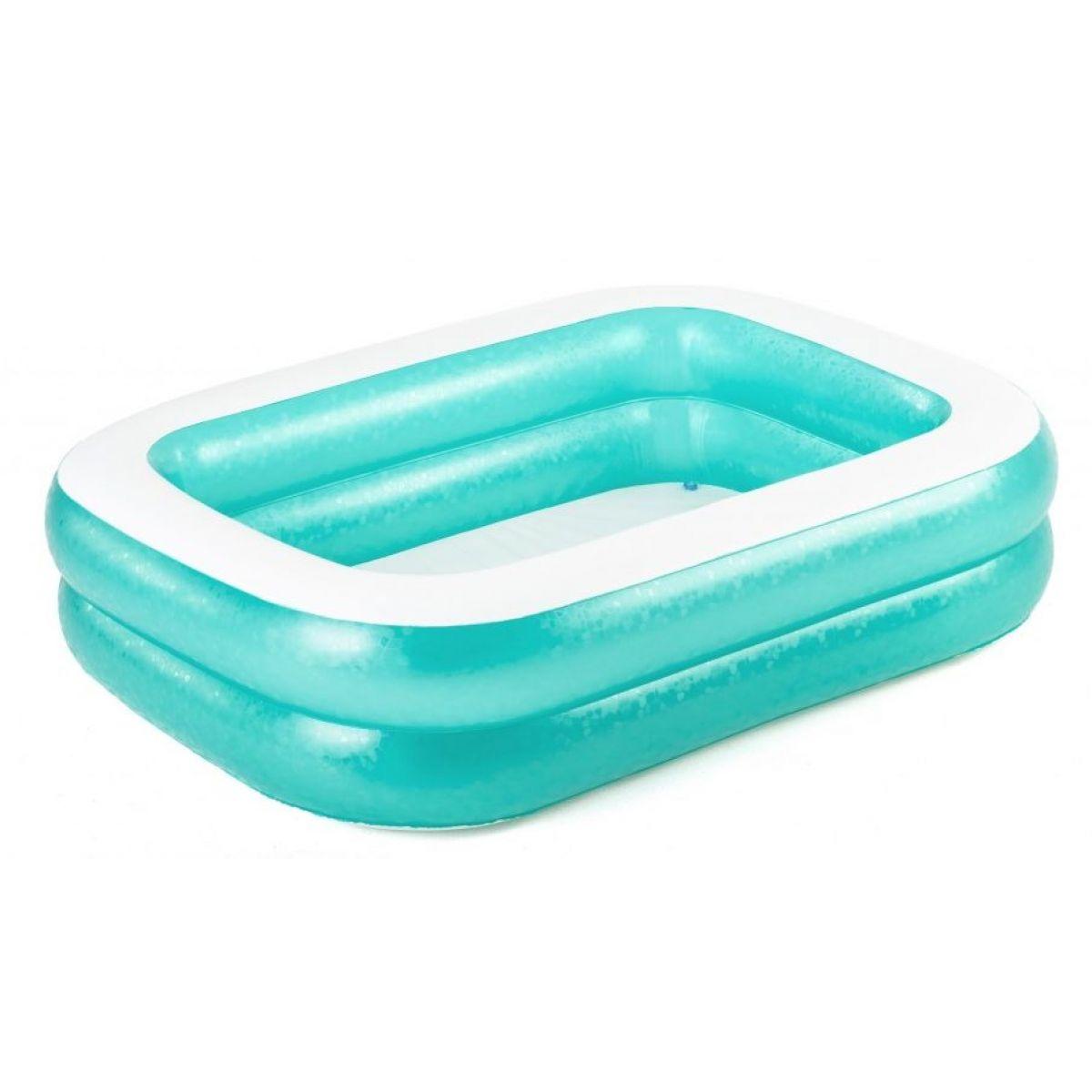 Bestway Bazén nafukovací obdélníkový modrý s bílým lemem