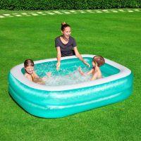 Bestway Bazén nafukovací obdélníkový modrý s bílým lemem 3