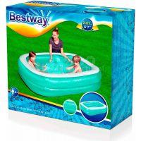Bestway Bazén nafukovací obdélníkový modrý s bílým lemem 5